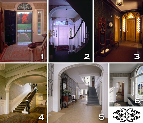 Hallways in historic New England homes. All photos courtesy of historicnewengland.org