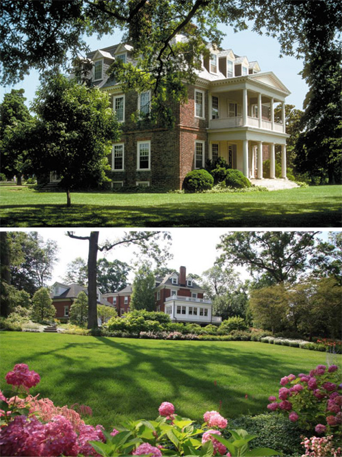 Georgian Colonial mansions. Source: Top, rd.com; bottom, whollyhouses.com