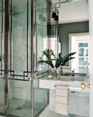 An Art Deco bathroom. Photo courtesy of digsdigs.com. See Sources below for link