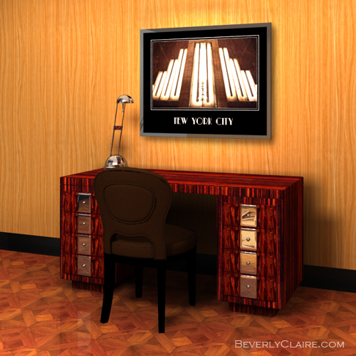 The Art Deco desk in context.