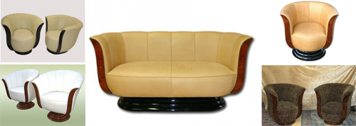 Art Deco tulip chairs