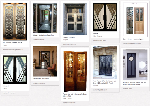 My Art Deco Doors board on Pinterest.