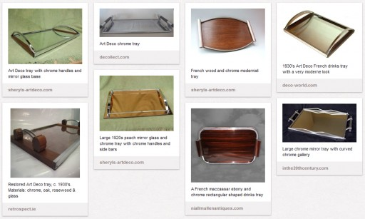 My selection of Art Deco-style trays on pinterest.com
