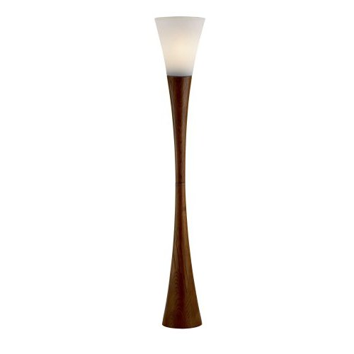 Adesso Espresso Floor Lamp in Walnut