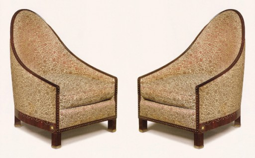 Pair of armchairs designed by Ruhlmann