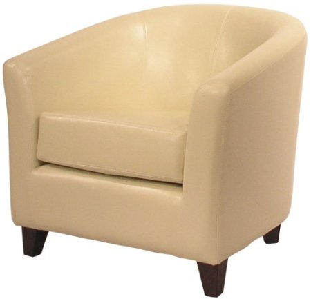 New Pacific Direct Hayden Leather Tub Chair