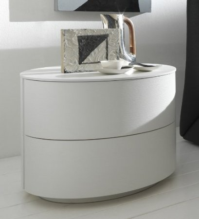Rossetto USA Moon White Nightstand