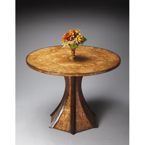 Butler Specialty Company Connoisseur Mappa Burl Foyer Table