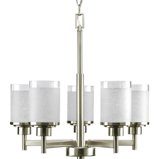 Progress Lighting P4459-09 5-Light Alexa Chandelier, Brushed Nickel