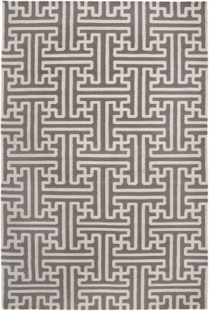 Surya Archive Grey Ivory Geometric Contemporary 2' x 3' Rug