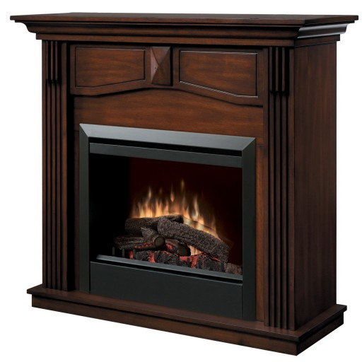 Dimplex Holbrook DFP4765BW Traditional Electric Fireplace Mantle with 23-Inch Firebox, Burnished Walnut
