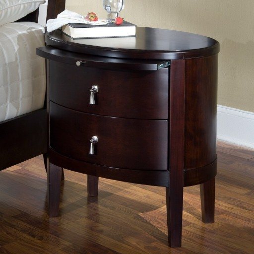 Ligna Port 2 Drawer Oval Nightstand