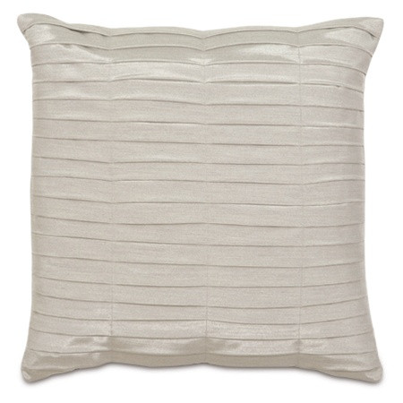 Pleated Silver Designer Pillow design by Studio 773