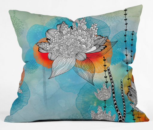 Iveta Abolina Coral Throw Pillow