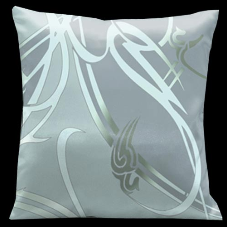 Lama Kasso Precious Metals Glass with Silver Blue Accents 18 x 18 Satin Pillow