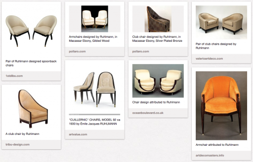 My collection of Ruhlmann chairs on Pinterest