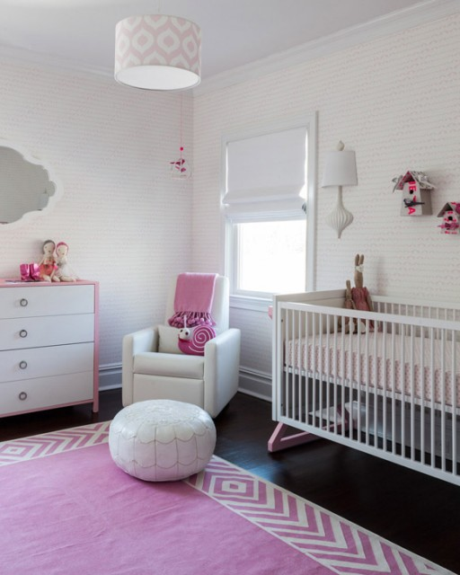 Sissy and Marley designed this pink nursery