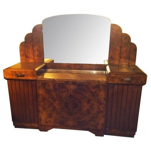 Stunning French Art Deco Buffet with Matching Mirror 1930's from ArtDecoCollection.com
