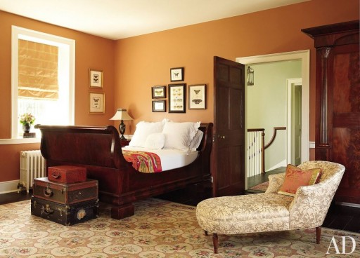 Traditional bedroom in Elizabeth Locke's Virginia home.