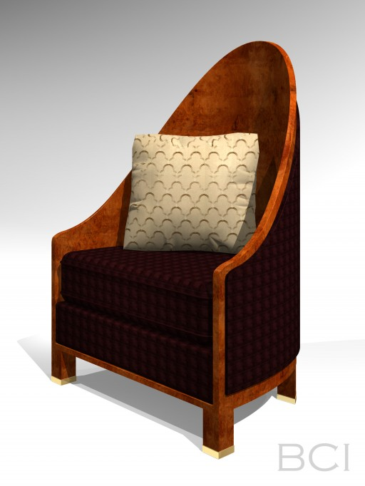 My 3D Model of a Ruhlmann armchair