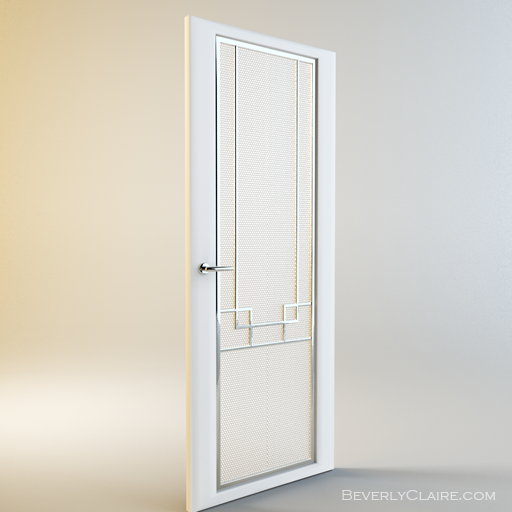 Art deco door with glass panels beverly claire interiors for Art deco interior doors home