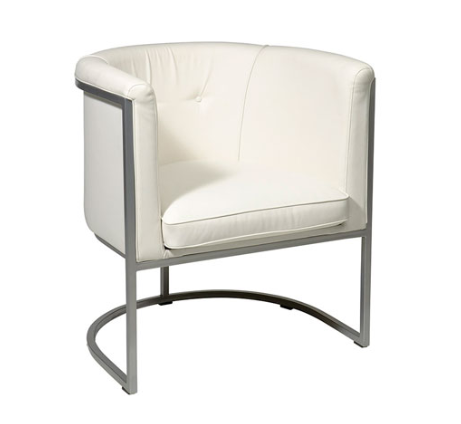 Avenue Six Captains White Faux Leather Chair
