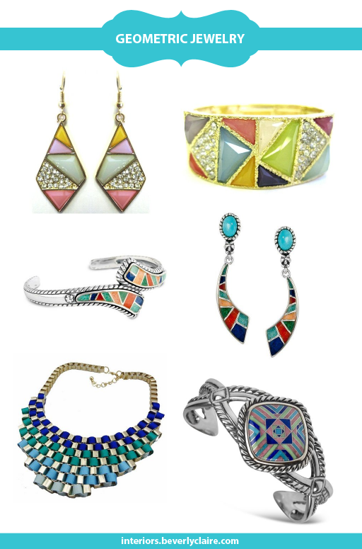 Colorful geometric jewelry