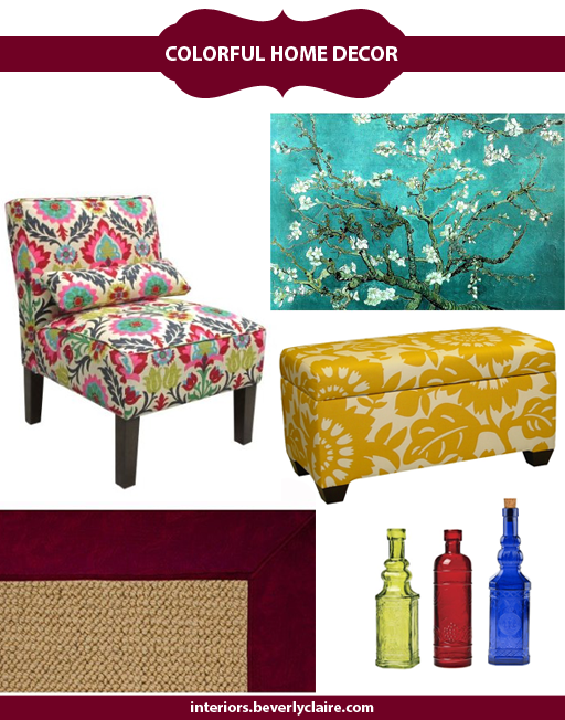 A selection of vibrant home accessories