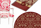 Timeless Damask Designs in Ravishing Red