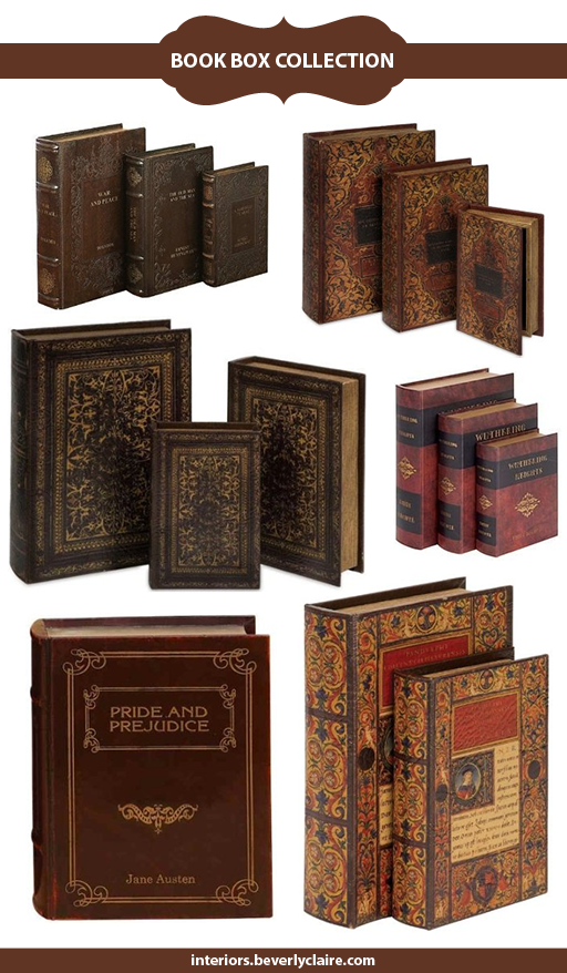 Faux Book Boxes