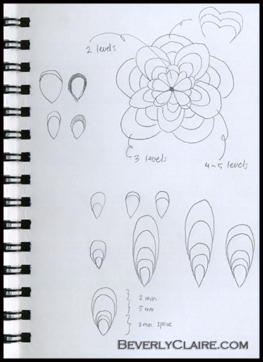Flower sketch by Beverly Claire Kaiya