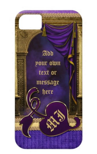 Gorgeous Classic Arch Columns Violet Drapes Gold iPhone 5 Covers