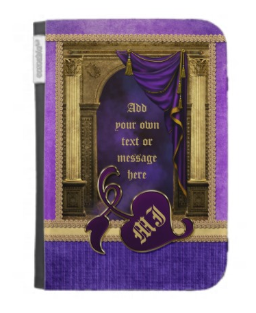 Gorgeous Classic Arch Columns Violet Drapes Gold Kindle 3 Case