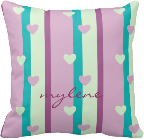 Purple Turquoise Mint Green And Mauve Stripes With Tiny