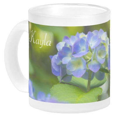 Beautiful Violet Hydrangea Green Leaf Bokeh Lights Coffee Mug