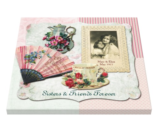 Vintage French Floral Teacup Pink Fan Lace Frame Canvas Print