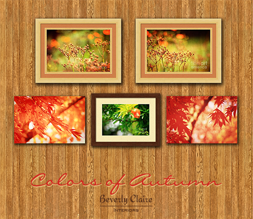Virtual gallery of autumn prints by Beverly Claire Kaiya