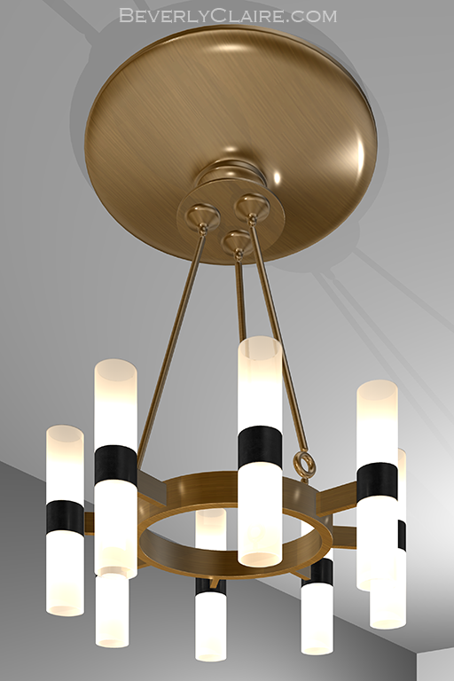 Art Deco Eight-Lamp Chandelier