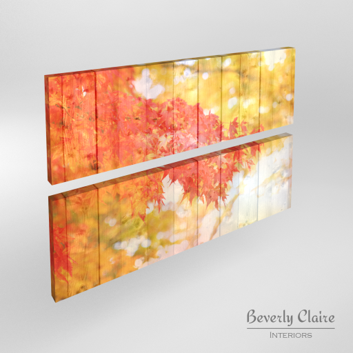 Canvas prints of autumn leaves by Beverly Claire Interiors