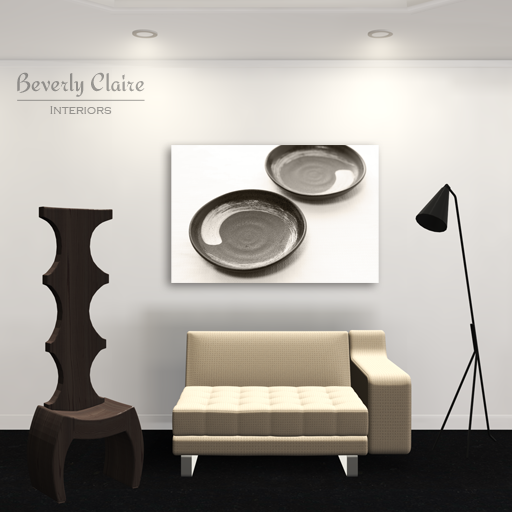 Black, white and beige room 3D render by Beverly Claire Kaiya
