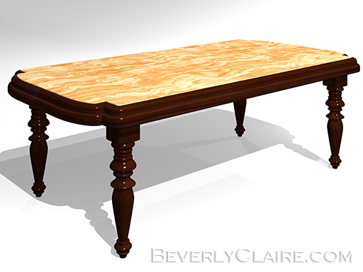 3D Model of a dining table