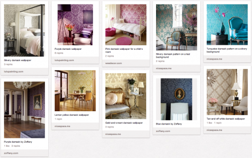 My damask wallpaper collection on Pinterest