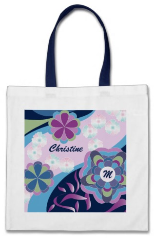 Floral Chrysanthemum River Kimono Japanese Style Canvas Bags