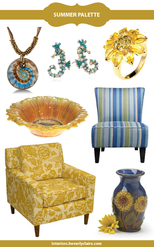 Colors of Summer curated by Beverly Claire Interiors