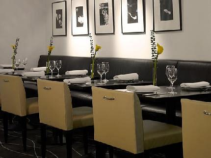 Chelsea Restaurant in the Art'otel Budapest. Artwork by Donald Sultan. Photo courtesy of onhotels.com