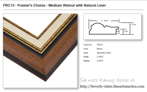 FRC13 - Framer's Choice - Medium Walnut with Natural Liner