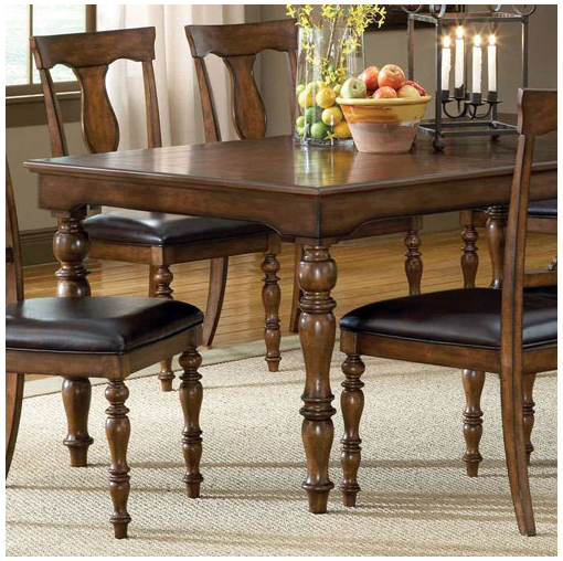 Hillsdale Furniture Bergamo Dining Weathered Brownton Extension Dining Table