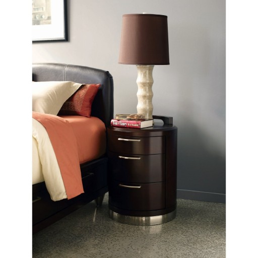 Three Drawer Nightstand by Hooker Furniture - Merlot (756-10-431)