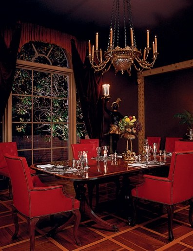 Dining room of Hollywood director George Cukor.
