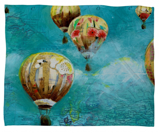 Land of Lulu Herd of Balloons 2 Fleece Throw Blanket